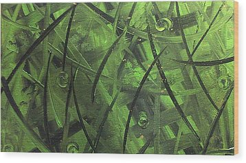 Seaweed Wood Print by Lisa Williams
