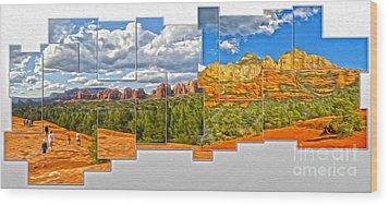 Sedona Arizona - Submarine Rock Wood Print by Gregory Dyer
