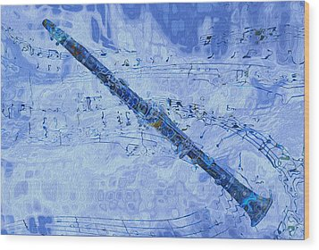 See The Sound 2 Wood Print by Jack Zulli