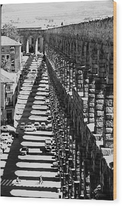 Segovia Aqueduct Wood Print