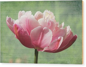 Wood Print featuring the photograph Sending Of Flowers by Trina  Ansel