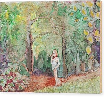 September Nymph Wood Print by Ellen Howell