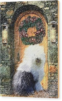 1 Sheepdog Wood Print