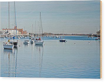 Wood Print featuring the photograph Sheepshead Bay Harbor by Ann Murphy