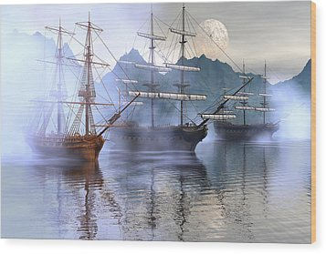 Shelter Harbor Wood Print by Claude McCoy