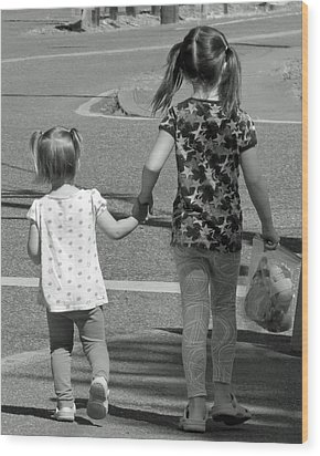 Wood Print featuring the photograph She's My Sister by E Faithe Lester