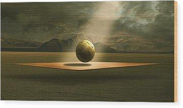 Wood Print featuring the digital art Shining by Franziskus Pfleghart