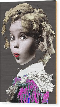 Shirley Temple Publicity Photo Circa 1935-2014 Wood Print by David Lee Guss