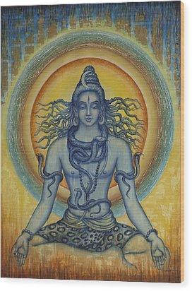 Shiva Wood Print