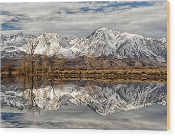 Sierra Reflections Wood Print by Cat Connor