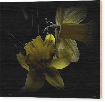 Silent Light Wood Print by Marija Djedovic
