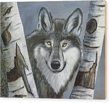 Silent Watcher Wood Print by Kenny Francis