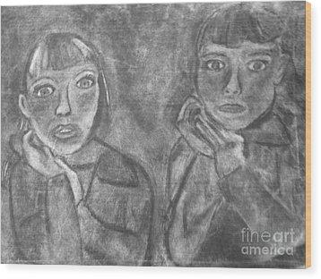 Sisters Wood Print by Khristin Kelly
