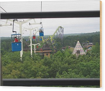 Six Flags Great Adventure - 12126 Wood Print by DC Photographer