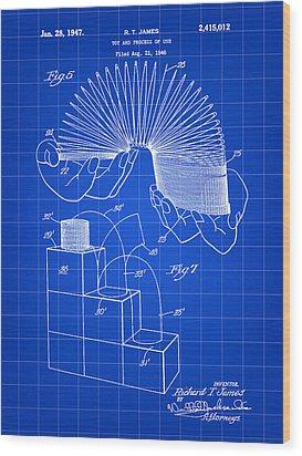 Slinky Patent 1946 - Blue Wood Print