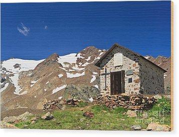 Small Chapel  Wood Print by Antonio Scarpi