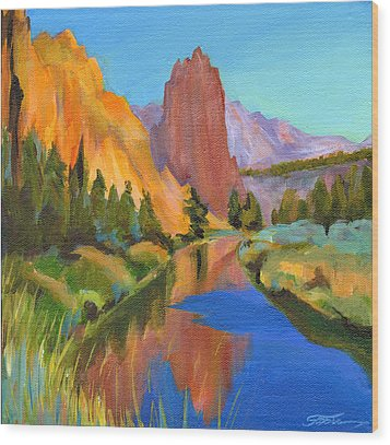 Smith Rock Canyon Wood Print by Tanya Filichkin