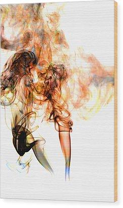 Smoke Abstract Wood Print