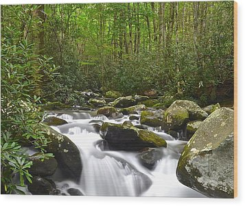 Smoky Mountain National Park Wood Print by Frozen in Time Fine Art Photography