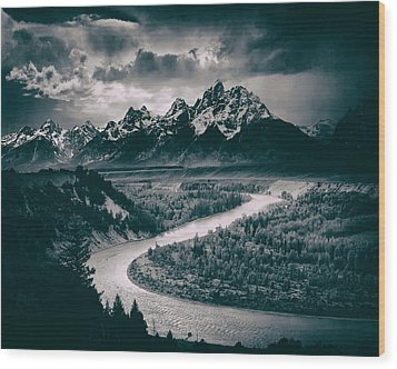 Snake River In The Tetons - 1930s Wood Print by Mountain Dreams