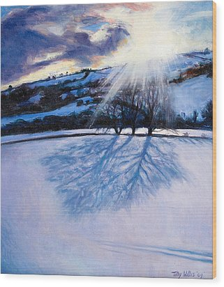 Snow Shadows Wood Print by Tilly Willis