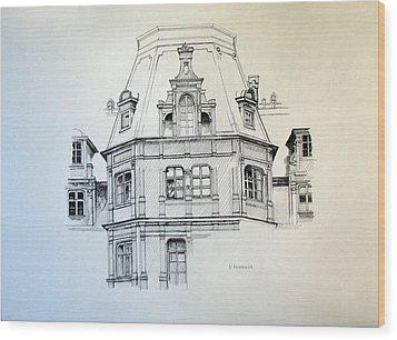 Sobanski Palace Wood Print by Nel Kwiatkowska