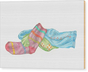 Socks 1 Wood Print