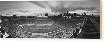 Soldier Field Football, Chicago Wood Print