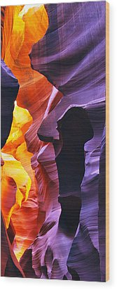 Wood Print featuring the photograph Somewhere In America Series - Antelope Canyon by Lilia D