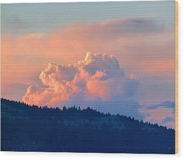 Soothing Sunset Wood Print by Will Borden