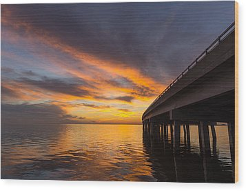 Wood Print featuring the photograph Soundside Sunset by Gregg Southard