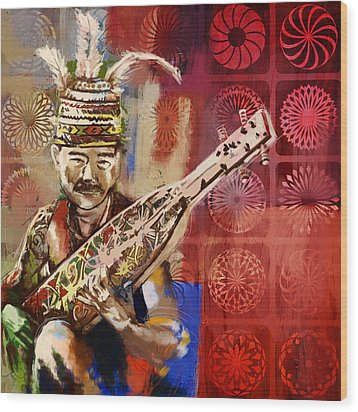 South Asian Art Wood Print by Corporate Art Task Force