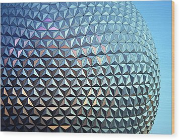 Wood Print featuring the photograph Spaceship Earth by Cora Wandel