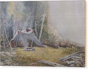 Spike Camp Wood Print by Lynne Parker