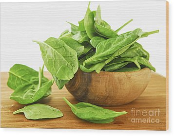 Spinach Wood Print by Elena Elisseeva