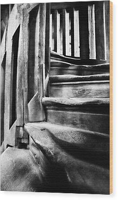 Spiral Staircase Wood Print by John  Bartosik