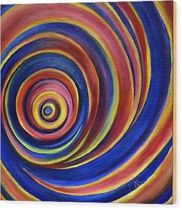 Spirals Wood Print by Art by Kar