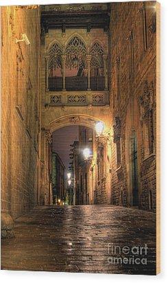Spirit Of Gaudi Wood Print by Erhan OZBIYIK