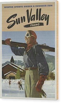 Sports Posters Wood Print by Vintage