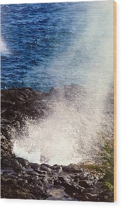 Wood Print featuring the photograph Spouting Horn by Alohi Fujimoto