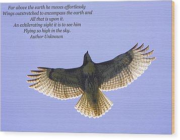 Spreading Her Wings Wood Print