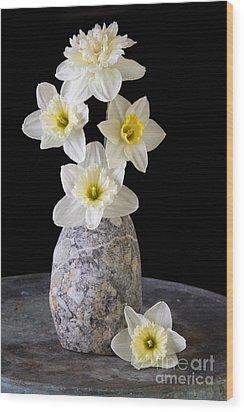 Spring Daffodils Wood Print by Edward Fielding