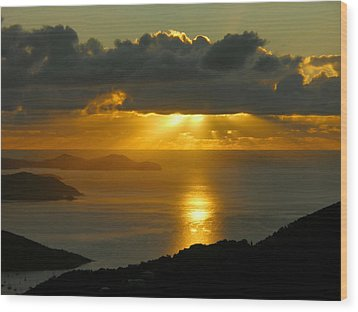 St. John Sunrise Wood Print