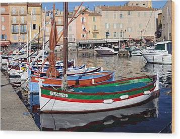 Wood Print featuring the photograph St. Tropez - France by Haleh Mahbod