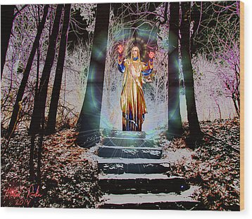 Stairway To Heaven Wood Print by Michael Rucker