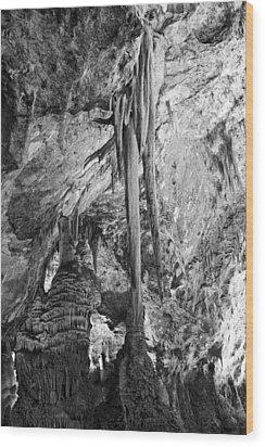 Stalactites And Stalagmites Wood Print by Melany Sarafis