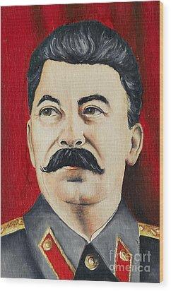 Stalin Wood Print by Michal Boubin