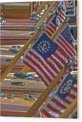 Stars And Stripes Wood Print by Steven Lapkin
