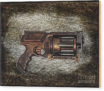 Steampunk - Gun - The Multiblaster Wood Print by Paul Ward