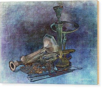 Sterling Silver Wood Print by Gunter Nezhoda